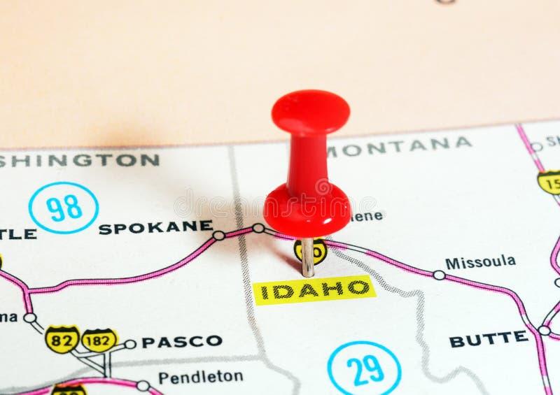 Mapa de Idaho los E.E.U.U. fotografía de archivo