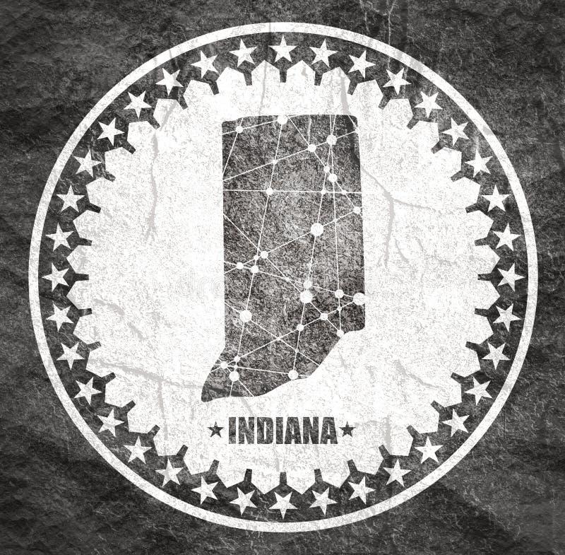 Mapa de Indiana State imagem de stock