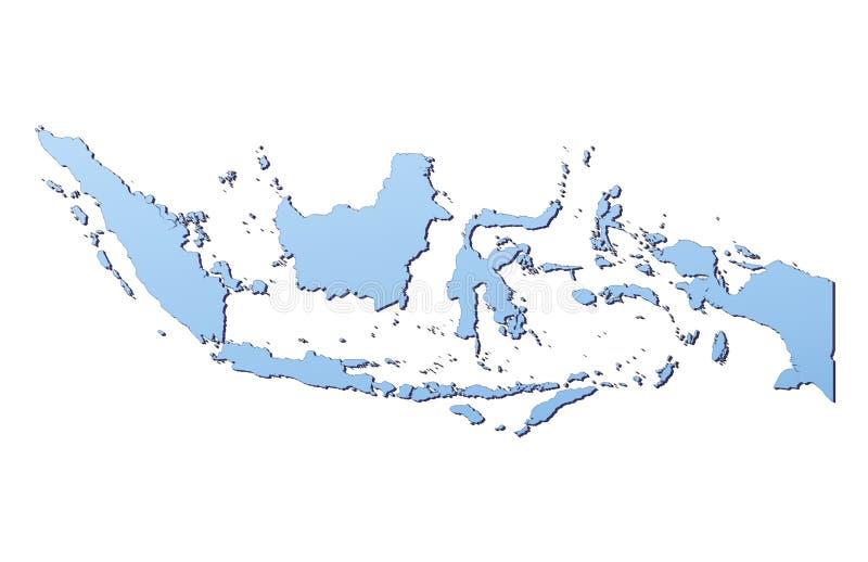 Mapa de Indonésia ilustração do vetor