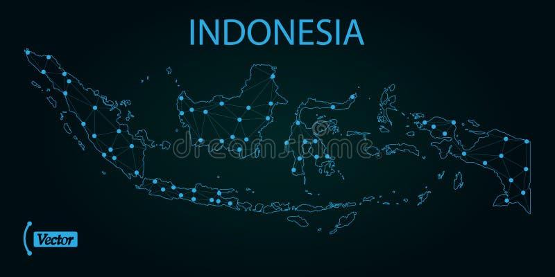 Mapa de Indonésia Ilustração do vetor Mapa de mundo ilustração royalty free