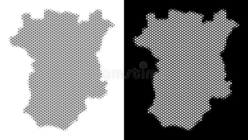 Mapa de intervalo mínimo de Chechnya ilustração stock