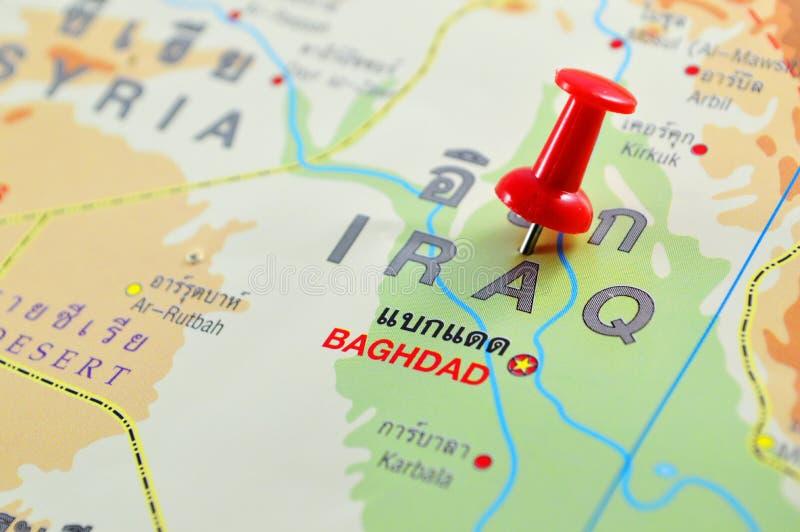 Mapa de Iraque imagens de stock royalty free