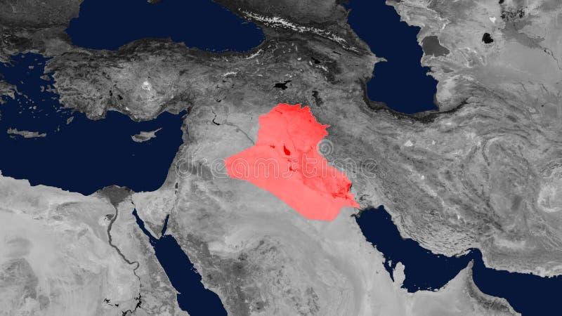 Mapa mapa de Iraque, Iraque, Republic of Iraq imagem de stock royalty free