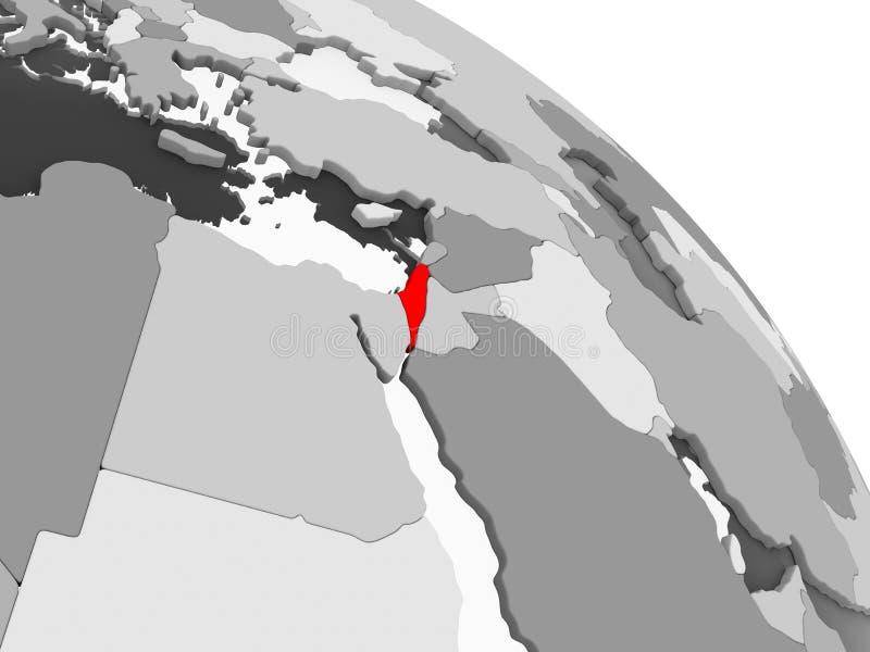 Mapa de Israel ilustração do vetor