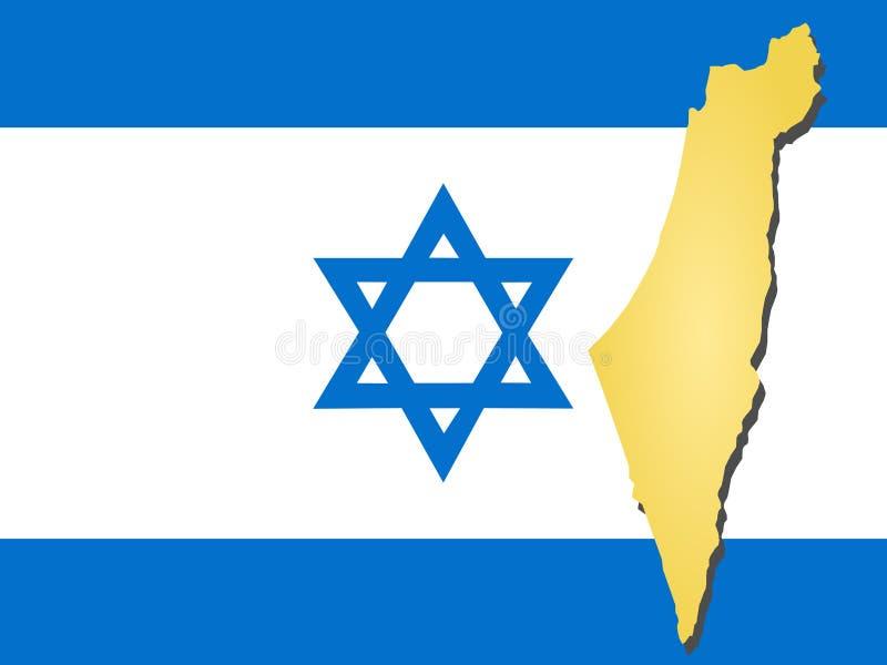 Mapa de Israel ilustração royalty free