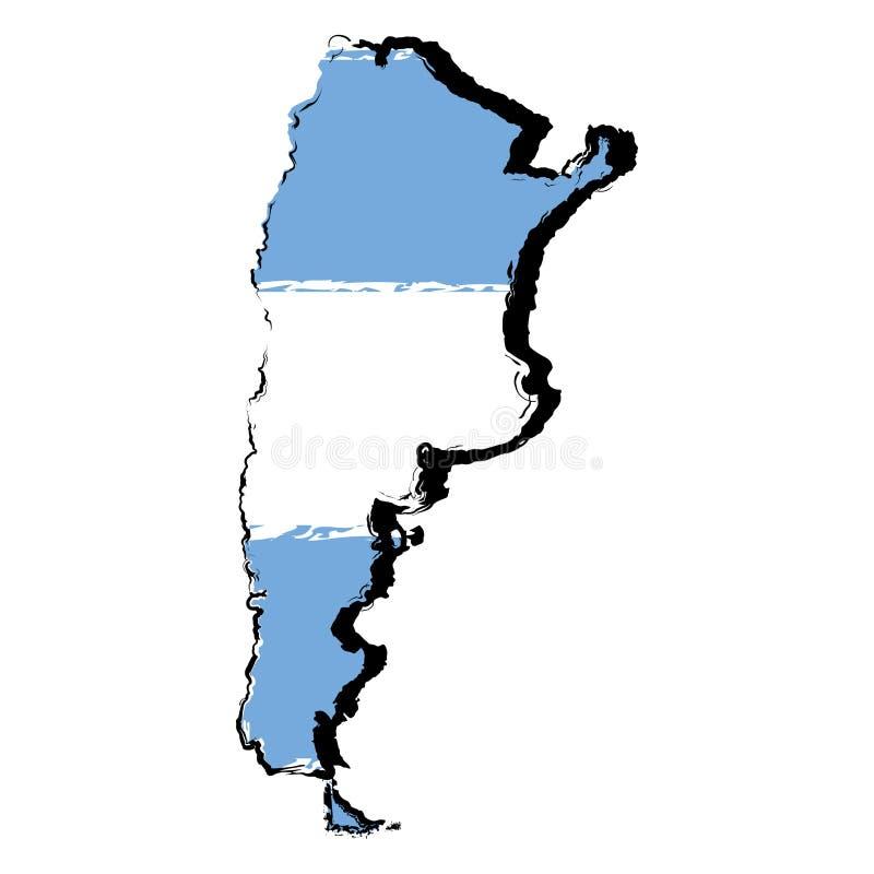 Mapa de Israel com bandeira ilustração royalty free
