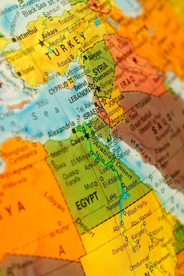 Mapa de Israel e de Líbano imagem de stock