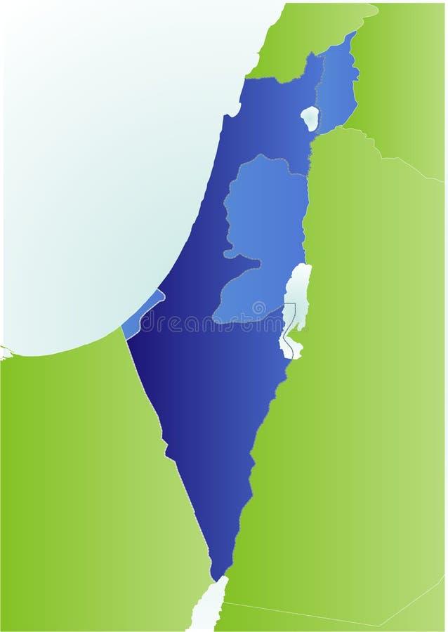 Mapa de Israel e dos bancos ocidentais ilustração royalty free