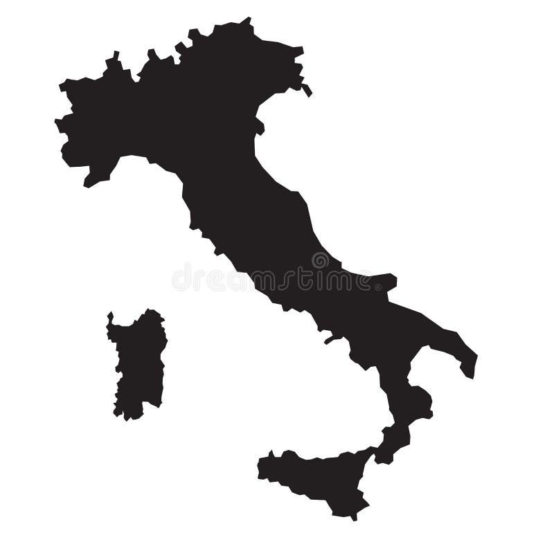 Mapa de Itália ilustração do vetor