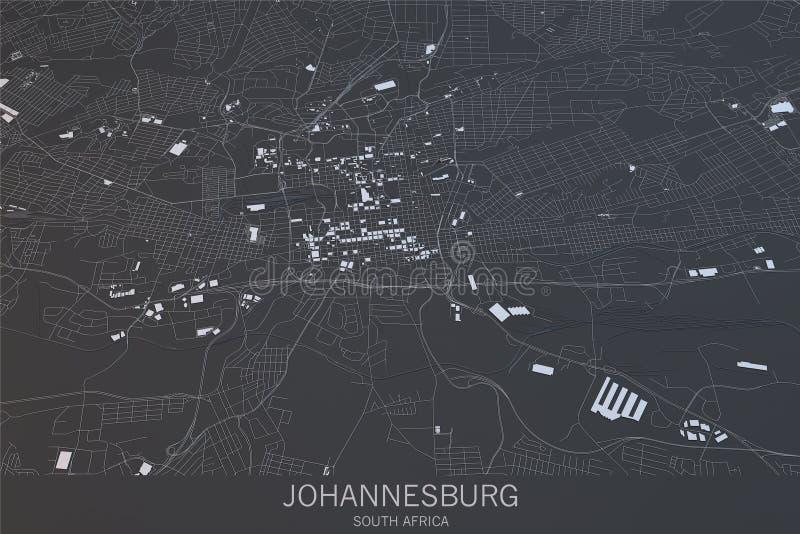 Mapa de Johannesburgo, visión por satélite, ciudad, Suráfrica imágenes de archivo libres de regalías
