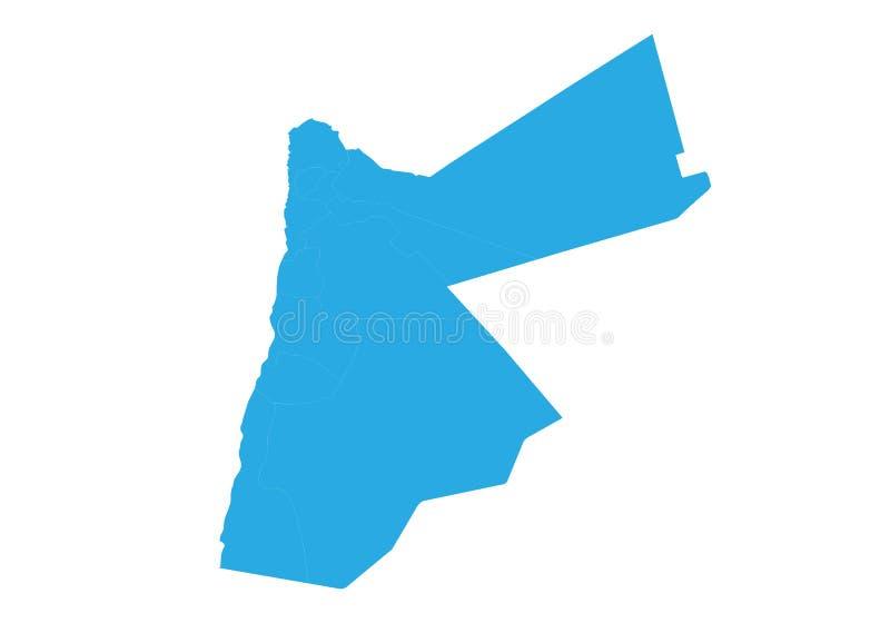 Mapa de Jordão E ilustração royalty free