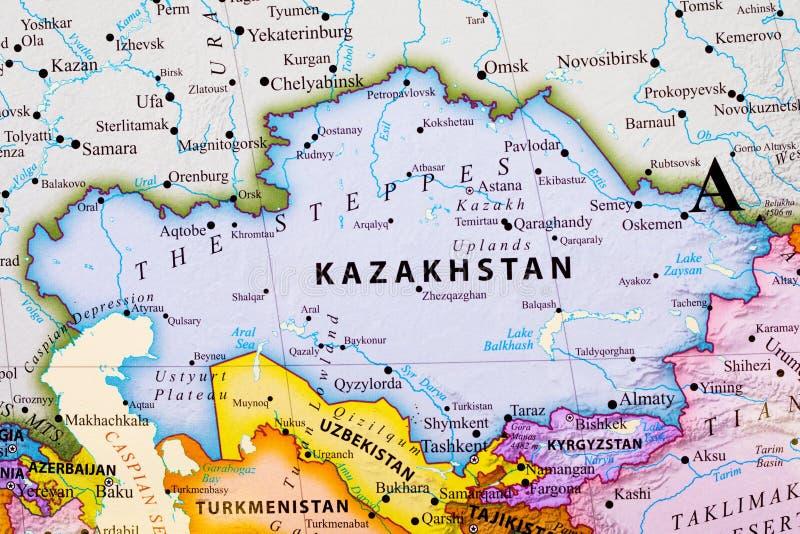 Mapa de kazakhstan ilustração do vetor