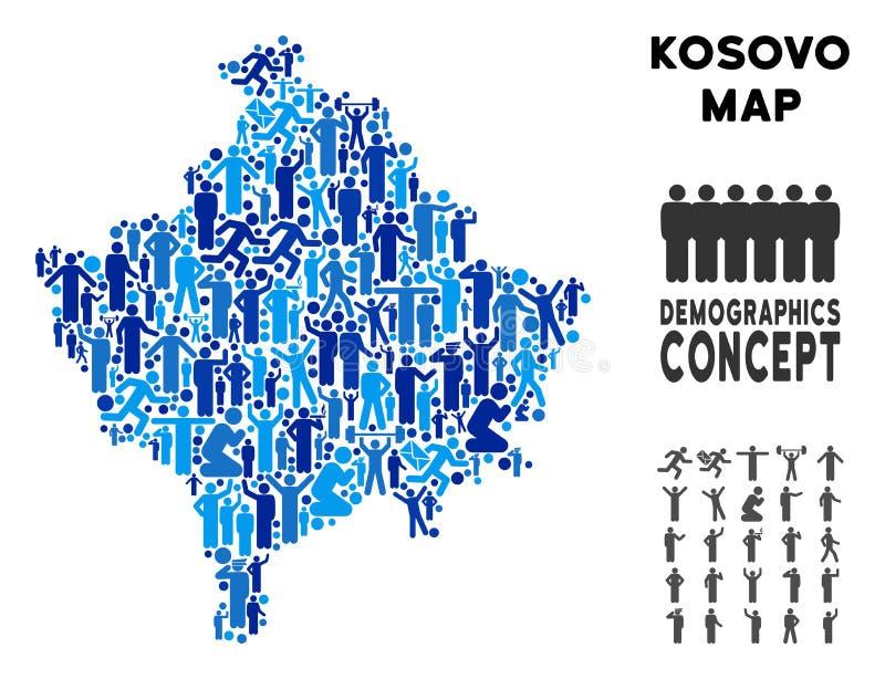 Mapa de Kosovo del Demographics ilustración del vector