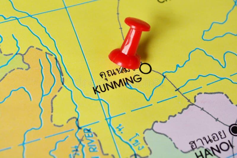 Mapa de Kunming foto de archivo libre de regalías