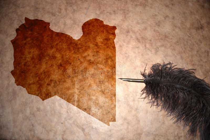 Mapa de Líbia do vintage imagem de stock