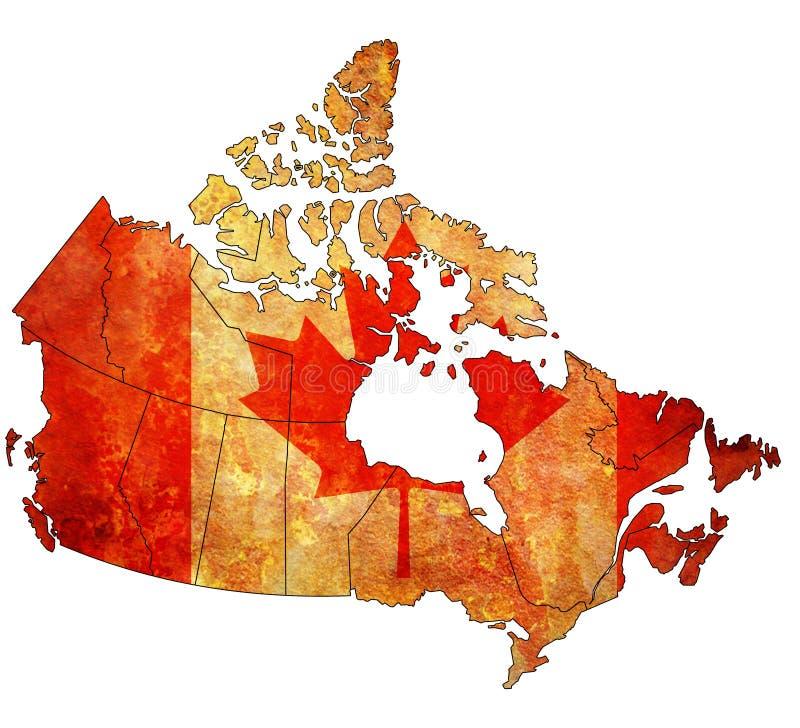 Mapa de la administración de Canadá ilustración del vector
