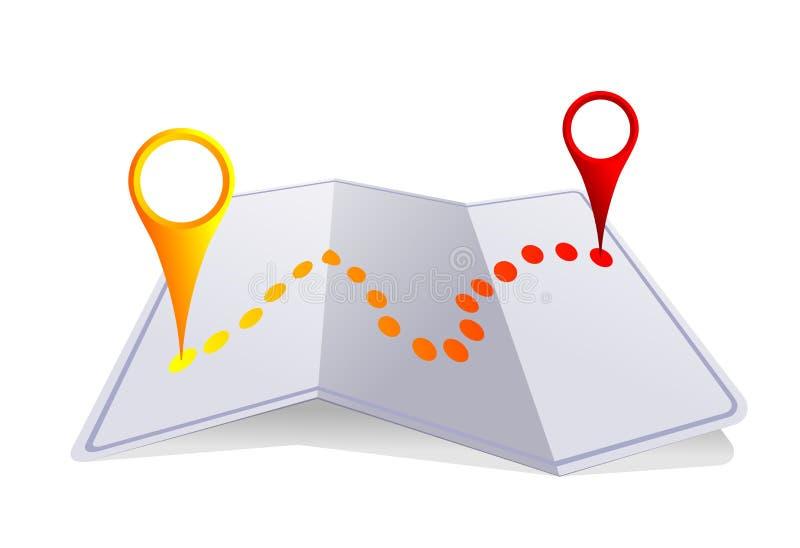 Mapa de la ciudad ilustración del vector