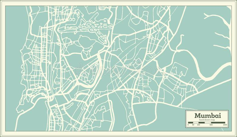 Mapa de la ciudad de bombay la india en estilo retro ejemplo blanco download mapa de la ciudad de bombay la india en estilo retro ejemplo blanco y negro gumiabroncs Gallery