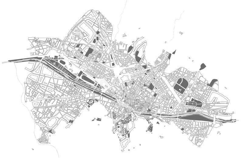 Mapa de la ciudad de Florencia, Italia ilustración del vector