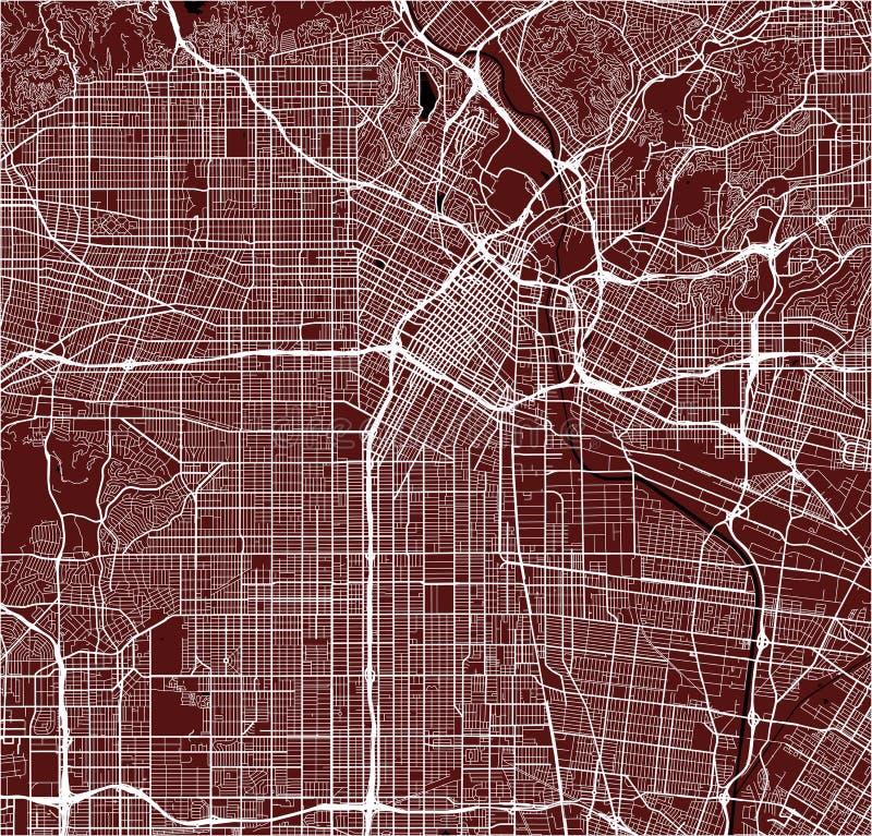 Mapa de la ciudad de Los Ángeles, los E.E.U.U. libre illustration