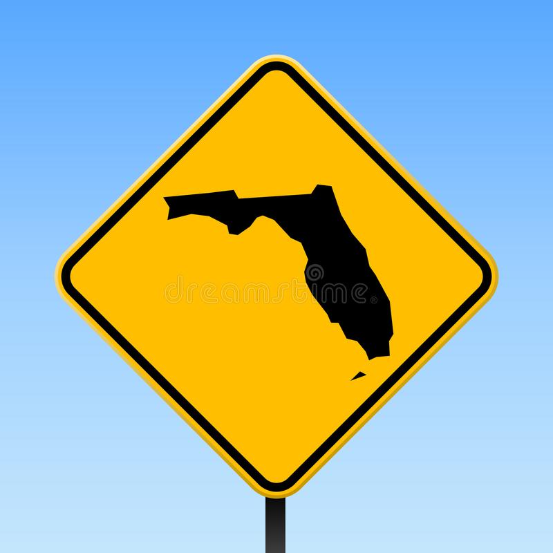 Mapa de la Florida en señal de tráfico libre illustration