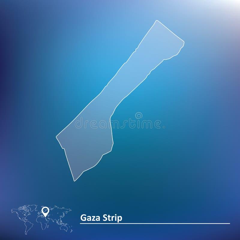 Mapa de la Franja de Gaza  stock de ilustración