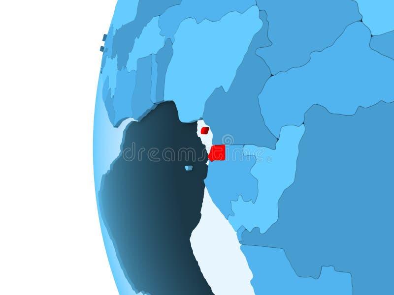 Mapa de la Guinea Ecuatorial ilustración del vector