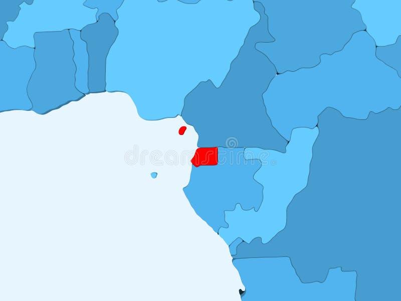 Mapa de la Guinea Ecuatorial libre illustration