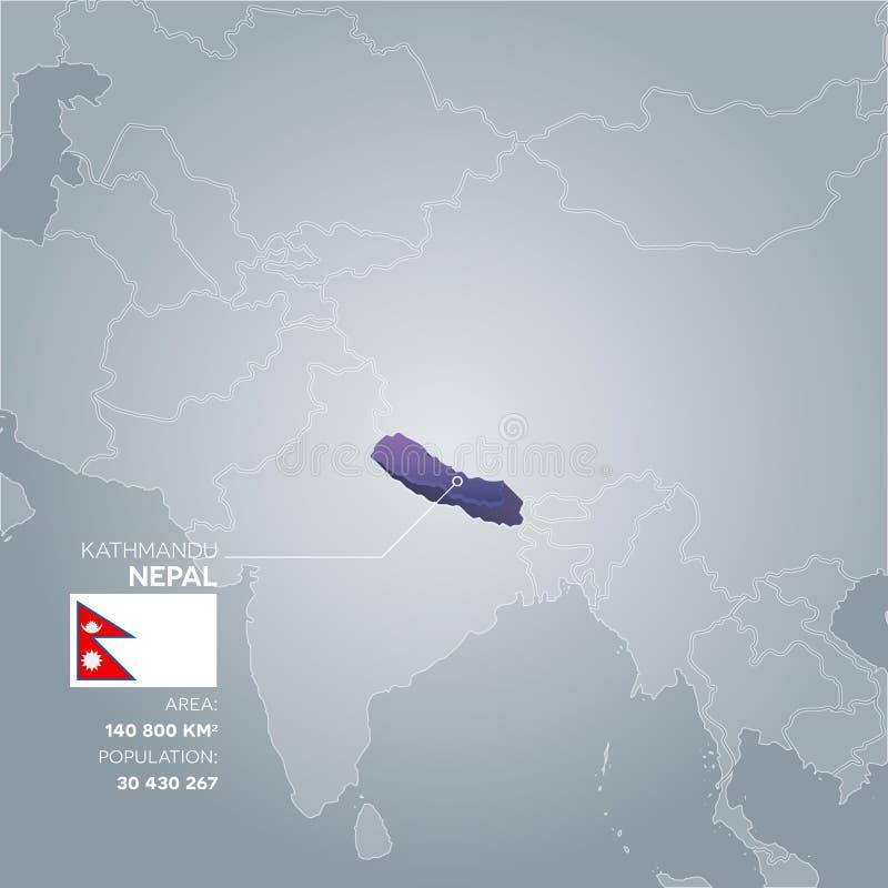 Mapa de la información de Nepal libre illustration