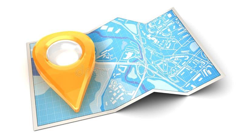 Mapa de la navegación libre illustration