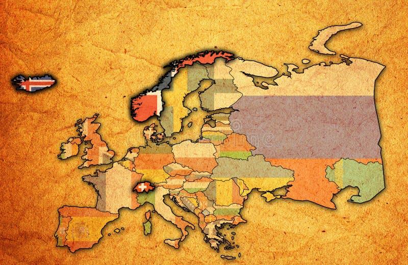 Mapa de la organización de comercio libre europea ilustración del vector