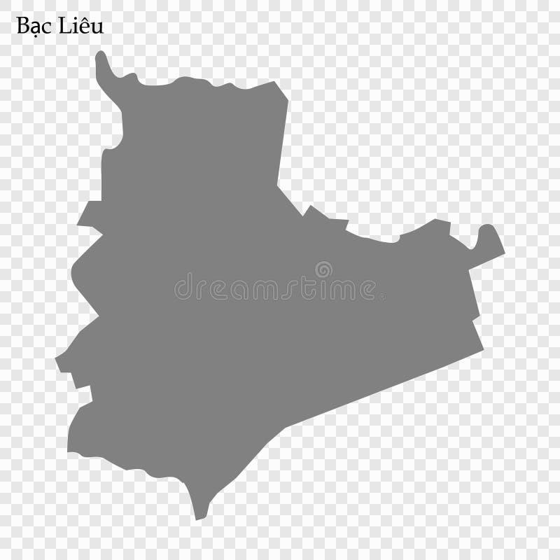 mapa de la provincia de Vietnam ilustración del vector