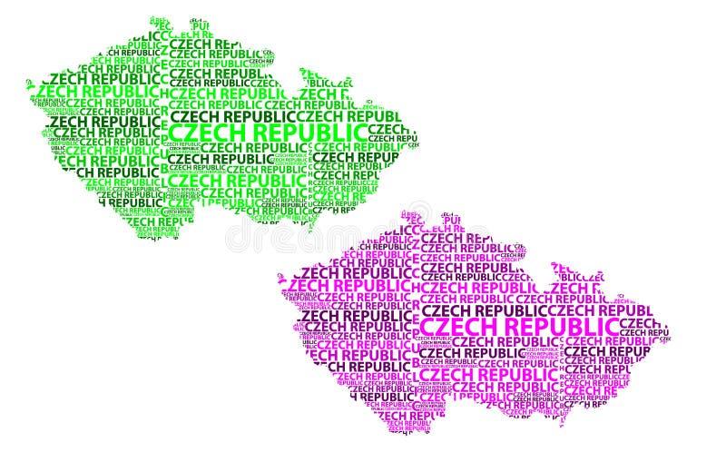 Mapa de la República Checa - ejemplo del vector libre illustration