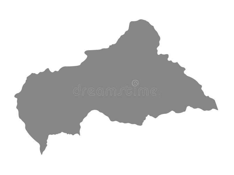 Mapa de la Rep?blica Centroafricana - pa?s sin mar en ?frica central
