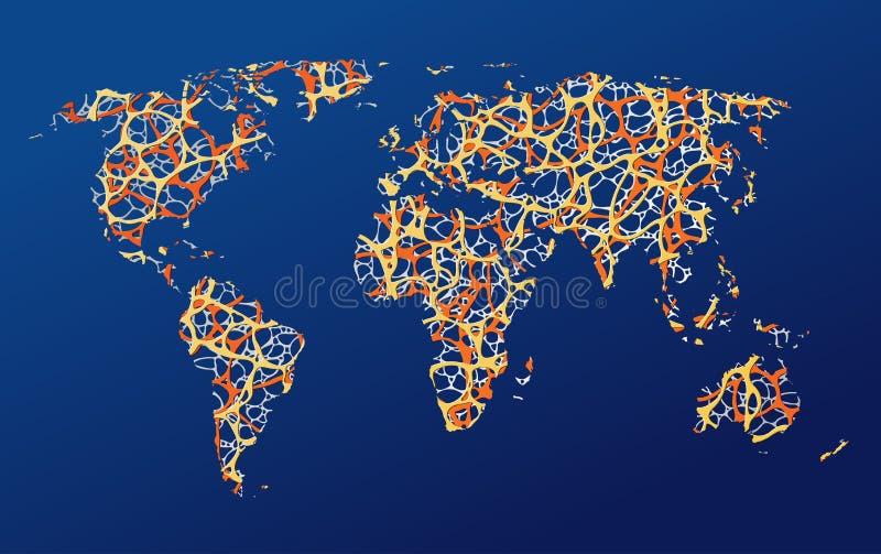 Mapa de la tierra, comunicación imagen de archivo