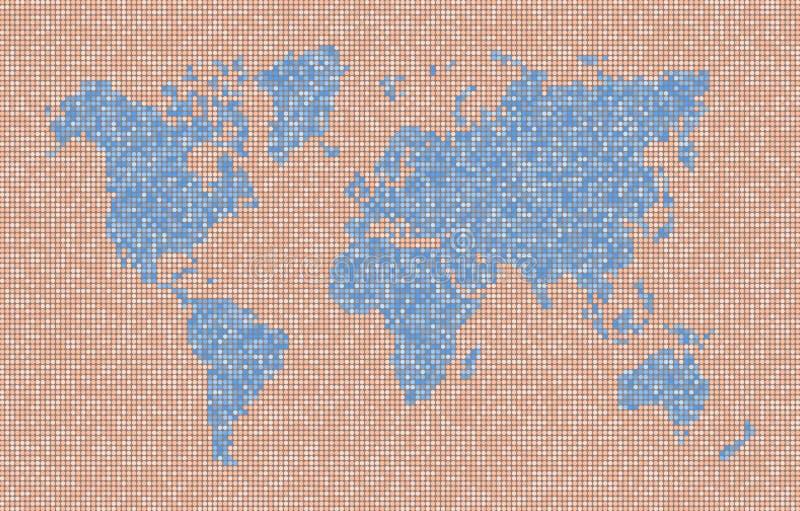 Mapa de la tierra del planeta con los continentes y los océanos stock de ilustración
