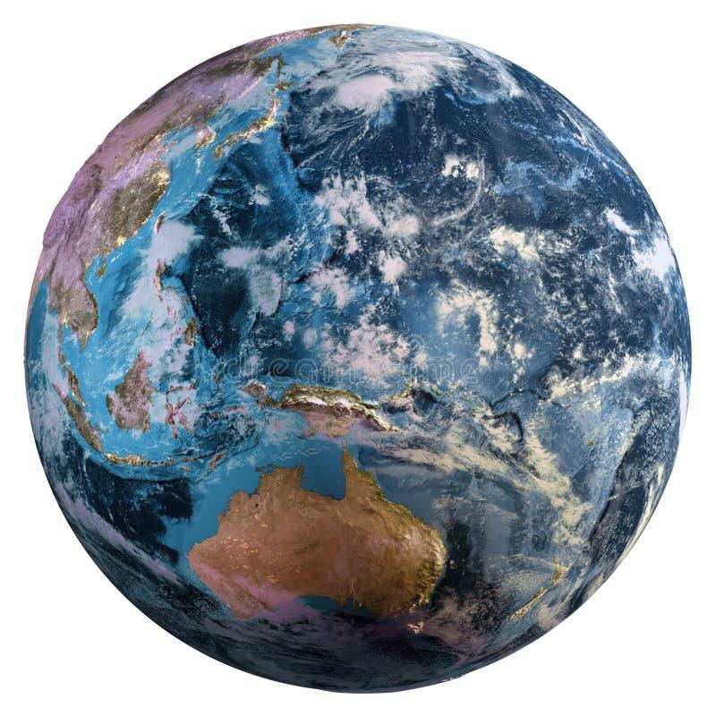 Mapa de la tierra del planeta fotos de archivo libres de regalías