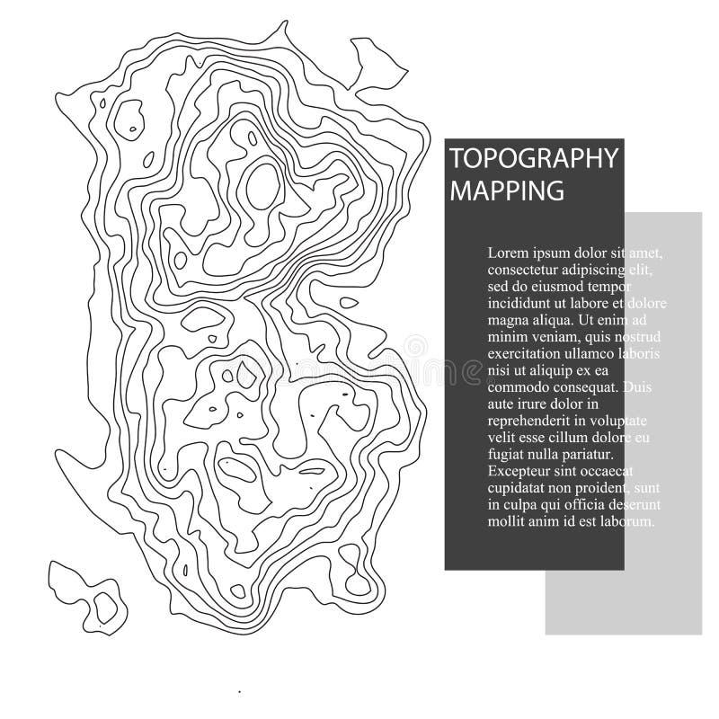 Mapa de la topografía del vector stock de ilustración