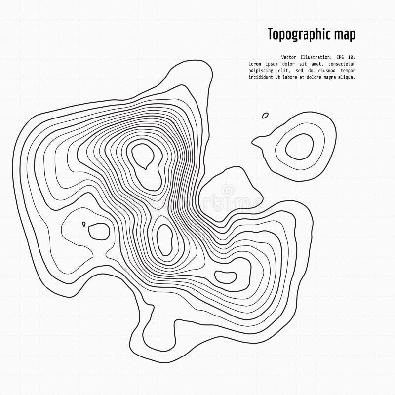 Mapa de la topografía del vector ilustración del vector