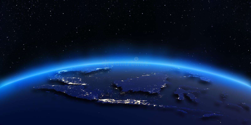 Mapa de las luces de la ciudad de Indonesia libre illustration