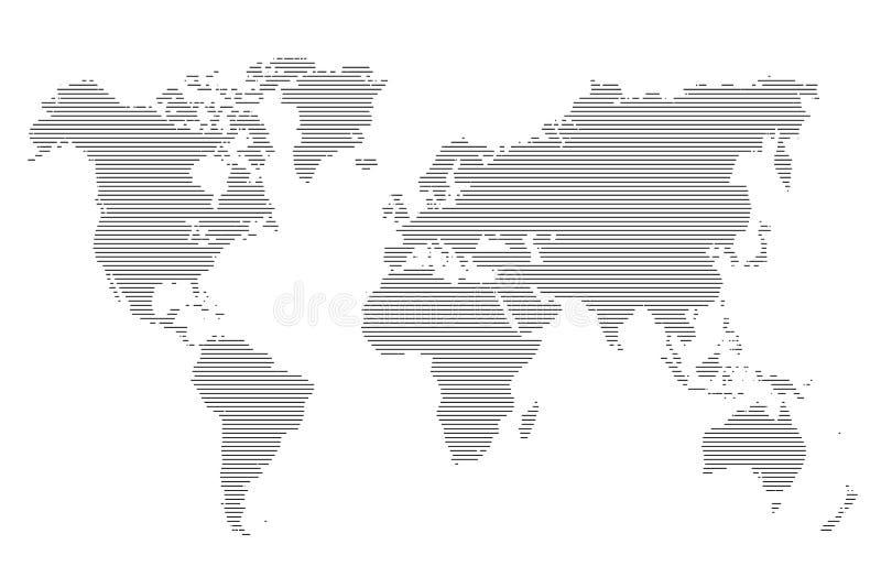 Mapa de las rayas del mundo Ilustración del vector stock de ilustración