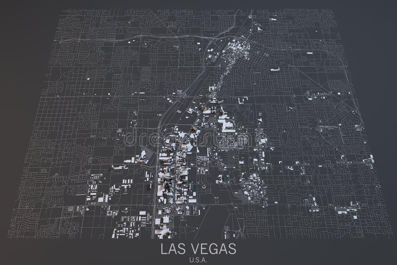 Mapa De Las Vegas Vision Por Satelite Nevada Estados Unidos Stock De Ilustracion Ilustracion De Nevada Mapa 67562708