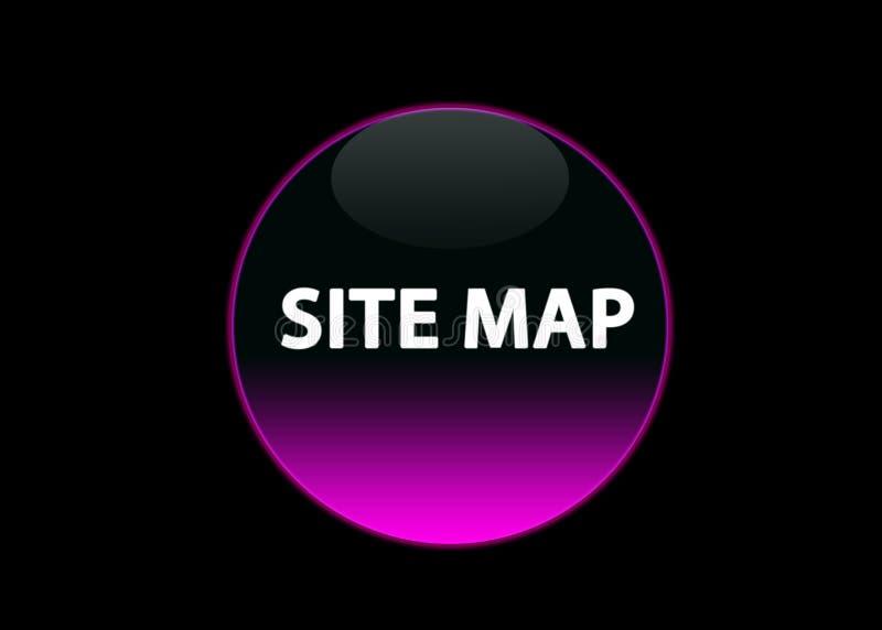 Mapa de local de néon cor-de-rosa do buttom ilustração royalty free