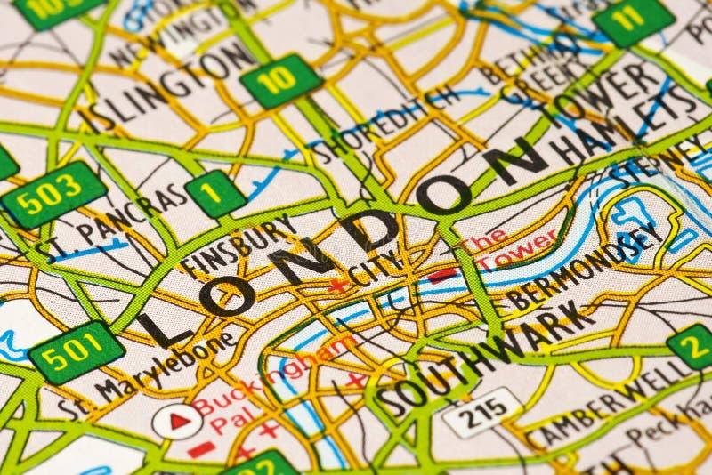 Mapa de Londres fotografia de stock