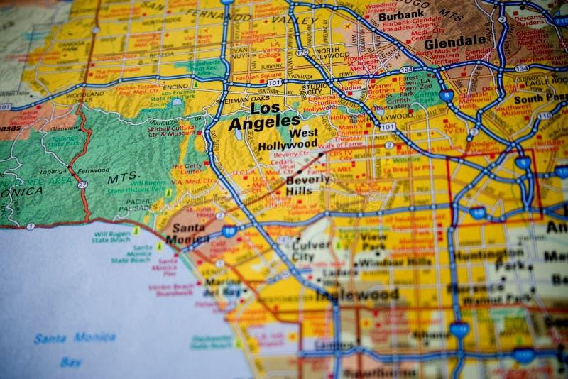 Mapa de Los Angeles fotografia de stock royalty free