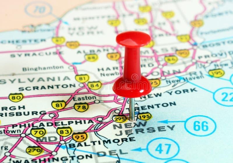 Mapa De Los EEUU Del Estado De New Jersey Imagen De Archivo - Mapa de new jersey