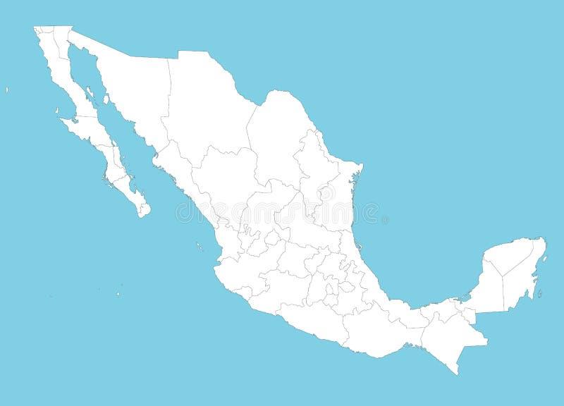 Mapa de México ilustração do vetor