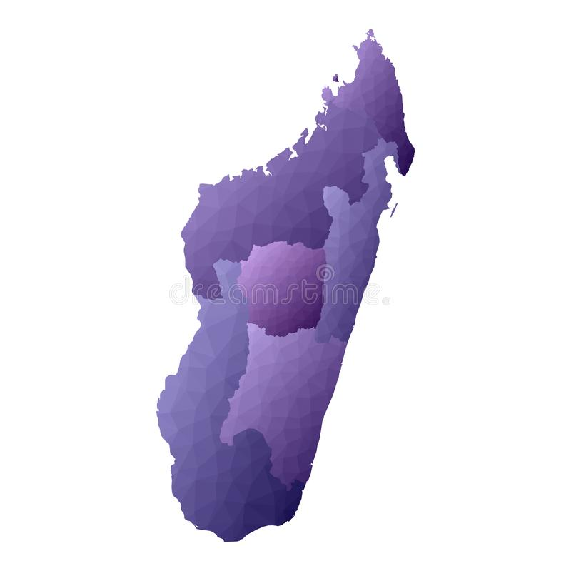Mapa de Madag?scar ilustração royalty free