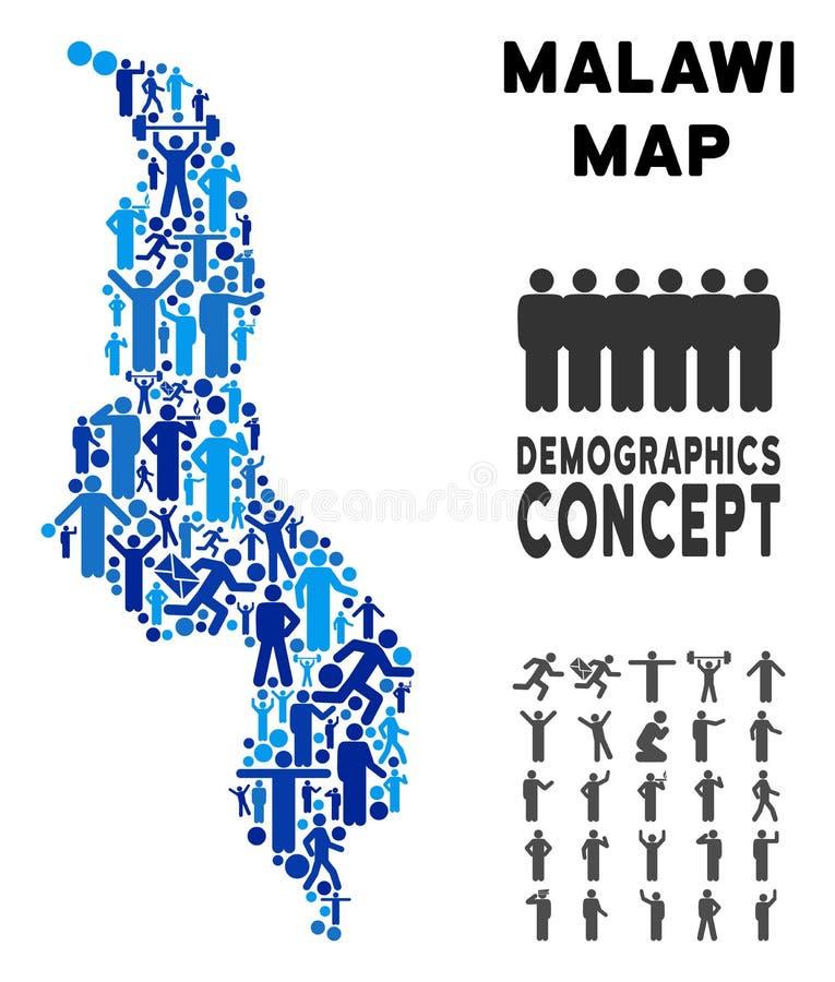 Mapa de Malawi del Demographics libre illustration