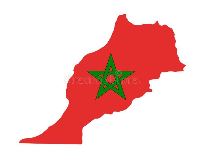 Mapa de Marrocos ilustração stock